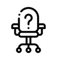 office chair and question mark job hunting vector image