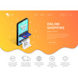 online shopping landing page concept vector image vector image