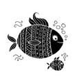 ornate fish for your design vector image