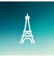 Paris Tower thin line icon vector image vector image