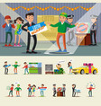 people winning lottery collection vector image vector image
