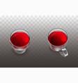 red wine fruit tea in glassware realistic vector image