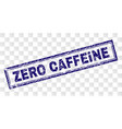 scratched zero caffeine rectangle stamp vector image vector image