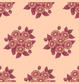 seamless daisy coral background vector image vector image