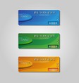 set of business banner vector image