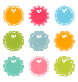 set of lacy frames vector image