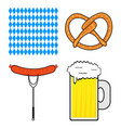 set of symbols for the oktoberfest festival vector image vector image