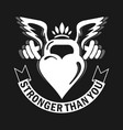she stronger than you strong woman fitness vector image