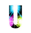 sparkler firework letter isolated on white vector image vector image