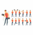 sportsman - cartoon people character set vector image
