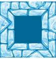 square frame on Ice seamless pattern vector image vector image