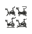 stationary bike icon design template isolated vector image