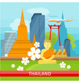 thailand travelling banner thai landmarks vector image vector image