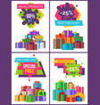 total sale on all products -90 off special price vector image vector image