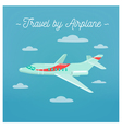 Travel Banner Tourism Industry Airplane vector image vector image