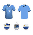 uruguay football jersey abstract image the vector image vector image