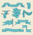 vintage banners hand drawn abstract ribbons vector image