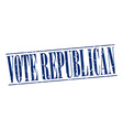 vote republican blue grunge vintage stamp isolated vector image vector image