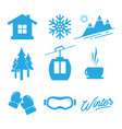winter icon vector image vector image