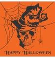 skull Happy Halloween vector image