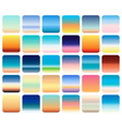 30 sunset sky gradients backgrounds set vector image