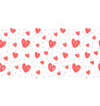 abstract background with hearts love wedding vector image