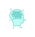 artificial brain intelligence robot icon design vector image vector image