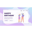 banner happy birthday concept vector image