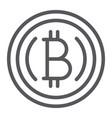 bitcoin line icon finance and crypto vector image