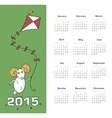 Calendar 2015 year with sheep vector image vector image