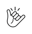 call me hand icon vector image