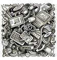 cartoon doodles art and design vector image vector image