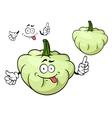 Cartoon pattypan squash vegetable character vector image vector image