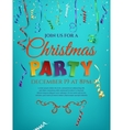 Christmas party poster template with confetti vector image vector image