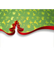 christmas tree from ribbons isolated on white vector image vector image