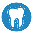 clean and strong white tooth with aura glow vector image