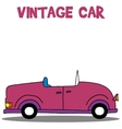 Collection of vintage car vector image