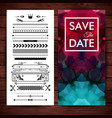 deep purple save the date invitation template vector image vector image