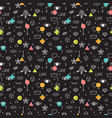 doodle seamless pattern with eyes lips hearts vector image vector image