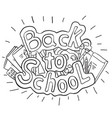 doodle text back to school with various school vector image vector image