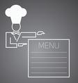 Flat character Chef menu vector image vector image