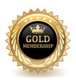 Gold Membership Badge vector image vector image