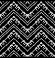 hand drawn zigzag and stripe pattern vector image vector image