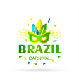 happy brazilian carnival day beautiful and vector image