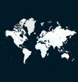 high detail political world map on a dark vector image