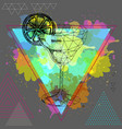 hipster realistic and polygonal cocktail vector image vector image