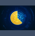 inside bitcoin vector image vector image