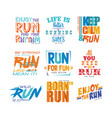 inspirational and motivational slogans set design vector image