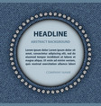 jeans circle frame vector image vector image