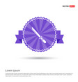 katana sword icon - purple ribbon banner vector image